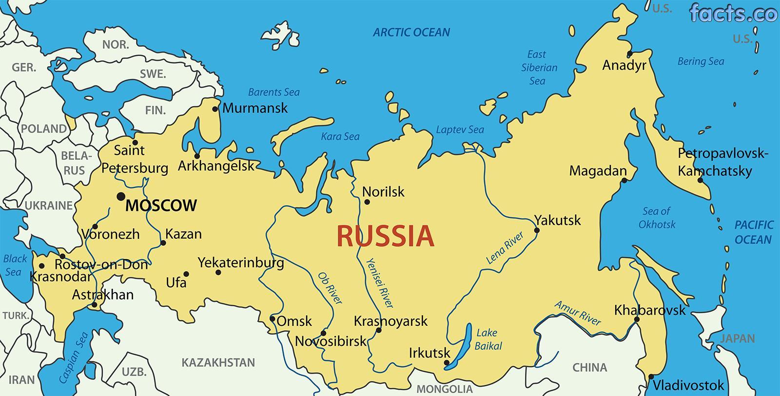 Karta 2019 Karta Na Rusiya