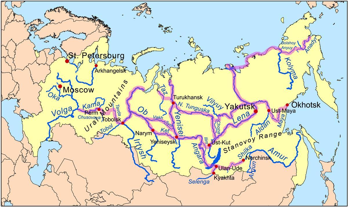 Karta Na Reki Rusiya Karta Na Rusiya S Reki Iztochna Evropa Evropa